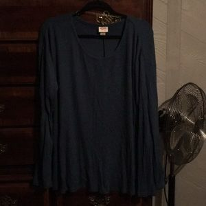 Grey blue beautiful tunic light sweater